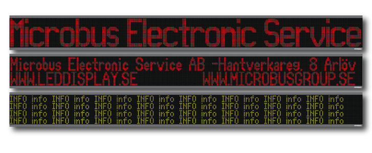 LED display stor