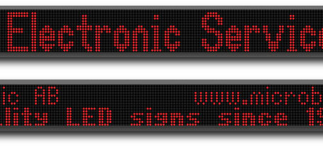 Microbus LED display