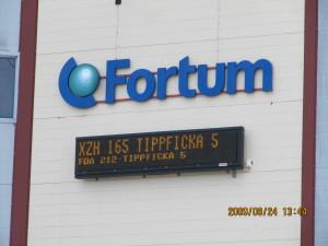 elektronisk LED textdisplay för utomhusbruk Microbus GTX 16x192