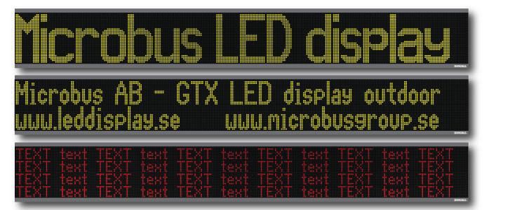 LED display textdisplay