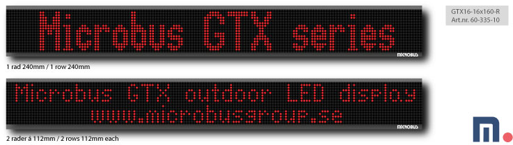 Utomhus LED display - alfanumerisk