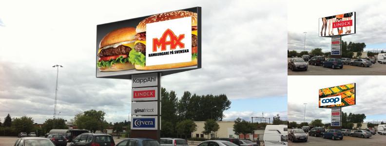 Digitala reklamskärmar