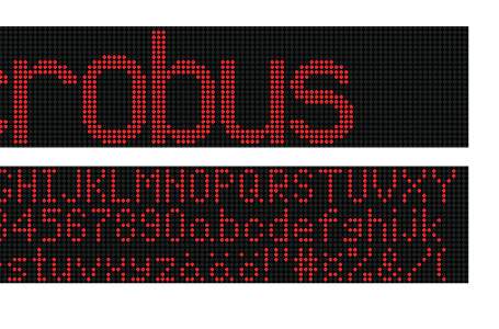 Utomhus LED display text