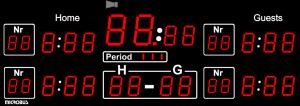 Microbus LED matchur Ishockey3200(99)