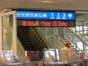 LED skylt inomhus Microbus informationsskylt