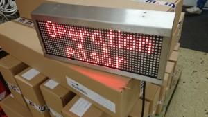 LED skylt inomhus rostfritt
