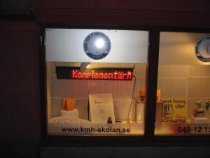 LED display inomhus skyltfönster