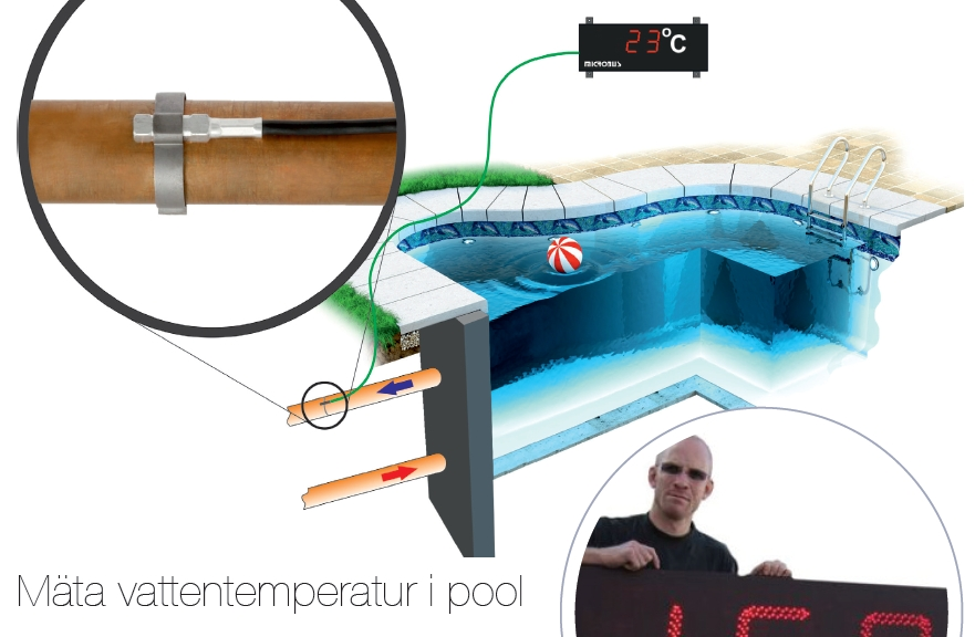 Temperatur - mäta vattentemp i pool - Microbus v2