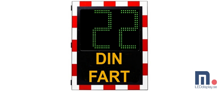 7-segment 320mm text - DIN FART, 727x300
