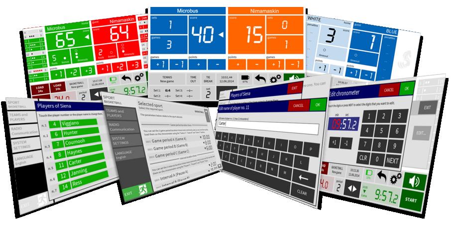 Matchur och resultatvisning med Microbus kontrollpanel