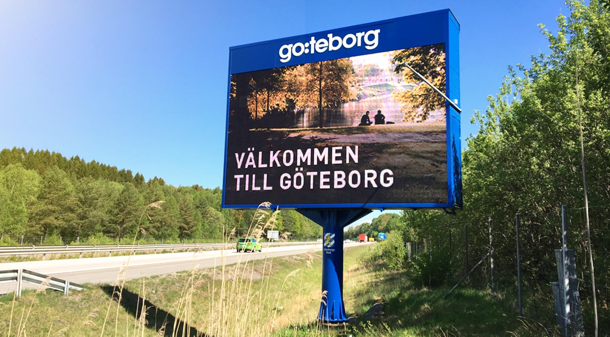 Infartsskylt Göteborg